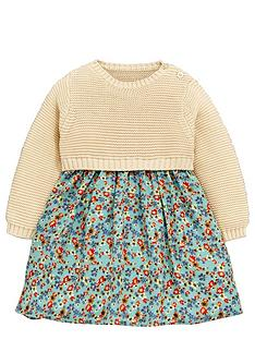 ladybird-baby-girls-knitted-woven-dress