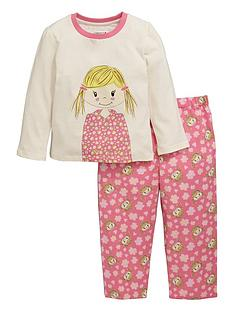 ladybird-girls-rag-doll-print-pyjamas-with-sleepover-bag-12-months-7-years