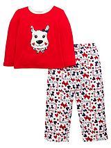 Girls Scottie Dog Pyjamas with Sleepover Bag - 12 months - 7 years