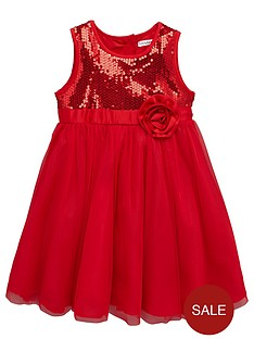 ladybird-girls-sequin-dress-with-large-corsage-12-months-7-years