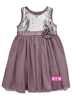 ladybird-toddler-girls-charcoal-sequin-dress-with-large-corsage-1-7-years