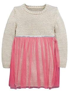 ladybird-girls-knitted-lurexnbspdress-with-tutu-12-months-7-years