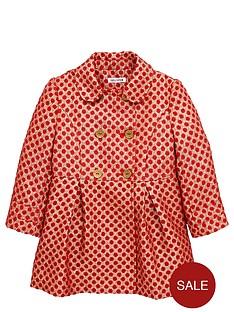ladybird-girls-gold-spot-jacquard-smart-coat-12-months-7-years