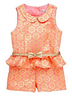ladybird-girls-neon-gold-daisy-and-frill-playsuitnbsp--12-months-7-years