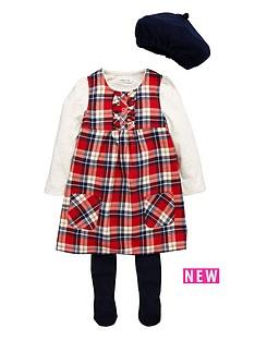 ladybird-toddler-girls-4-piece-tartan-pinny-amp-berret-set-1-7-years