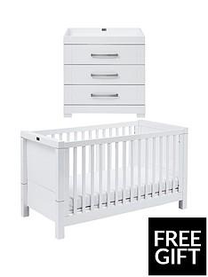 silver-cross-free-silver-cross-mattressnbspnotting-hill-cot-bed-dressernbspamp-mattress