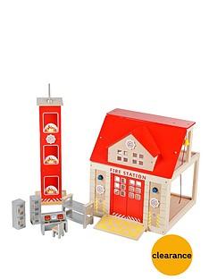 tidlo-wooden-fire-station-set
