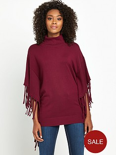 south-tassle-roll-neck-ponchonbsp