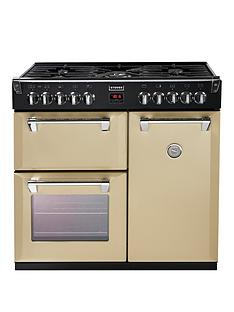 Stoves Richmond 900DFT 90cm Dual Fuel Range Cooker with Connection - Champagne