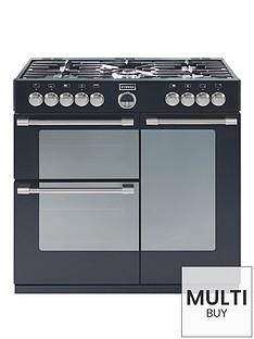 stoves-sterlingnbsp900dft-90cm-dual-fuel-range-cooker-with-connection-black