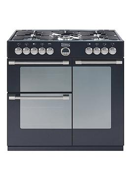 stoves-sterlingnbsp900dft-90cmnbspwide-dual-fuel-range-cooker-with-connection-black
