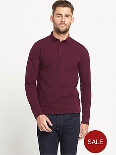 goodsouls-long-sleeve-pique-polo-top