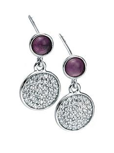 fiorelli-fiorelli-sterling-silver-amethyst-cabouchon-and-pave-cubic-zirconia-drop-earrings