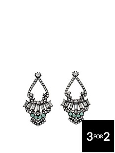 fiorelli-gunmetal-crystal-cluster-statement-earrings