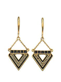 fiorelli-blackened-gold-crystal-and-resin-triangle-earrings