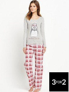 sorbet-gift-wrapped-owl-pyjamas-set