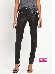 south-double-zip-coated-skinny
