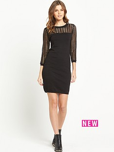 v-by-very-crochet-lace-metallic-dress
