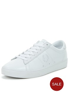 fred-perry-spencer-leather-mens-trainers-ndash-white