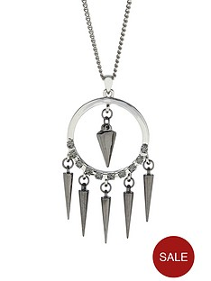 fiorelli-silver-tone-crystal-set-spike-drop-long-necklace