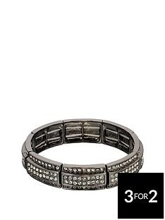 fiorelli-fiorelli-crystal-gunmetal-stretch-bracelet