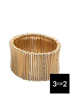 fiorelli-matt-gold-and-crystal-wide-stretch-bracelet
