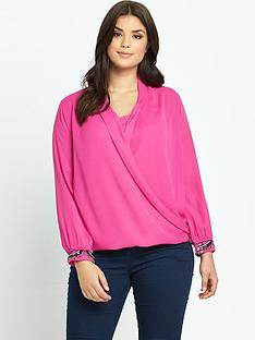 lovedrobe-wrap-over-embellished-cuff-blouse-with-cami