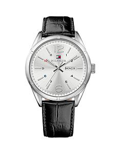 tommy-hilfiger-silver-dial-black-leather-strap-mens-watch