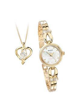 sekonda-gold-plated-crystal-set-watch-and-heart-pendant-gift-set
