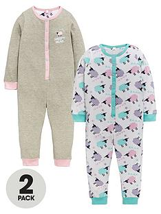 ladybird-ladybird-girls-sheep-sleepsuits-2-pack