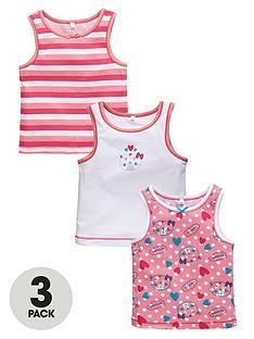 ladybird-girls-cat-vests-3-pack