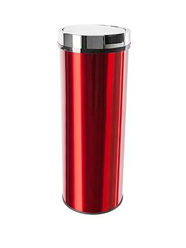 morphy-richards-round-sensor-bin-with-transparent-coating-50l-red