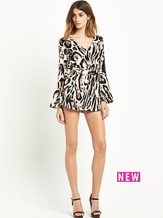 river-island-animal-print-flute-sleeve-playsuit