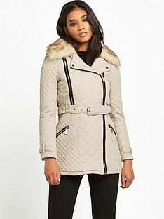 river-island-river-island-classic-quilt-trench-jacket