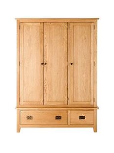 london-3-door-2-drawer-solid-oak-wardrobe