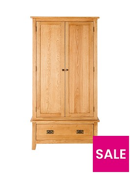 london-2-door-1-drawer-oak-wardrobe