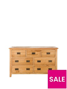 London 3 + 4 Drawer Ready Assembled Oak Chest