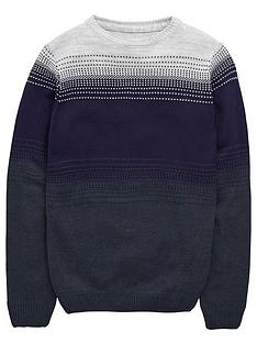 demo-crew-neck-gradient-stripe-knit
