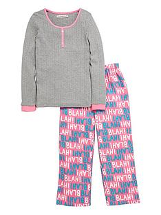 freespirit-girls-blah-blah-pyjamas-set