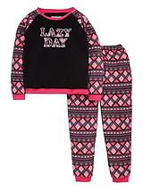 Girls Lazy Day Twosie Pyjamas