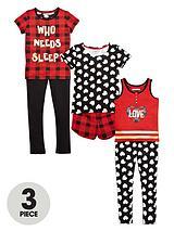 GirlsTartan Christmas PJ Set (6 Piece)