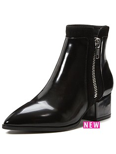 shoe-box-rhea-low-block-heel-point-boot-with-zip