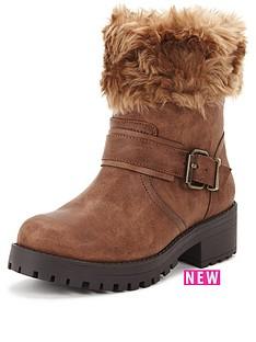shoe-box-perditanbspfaux-fur-cuff-casual-buckle-boot