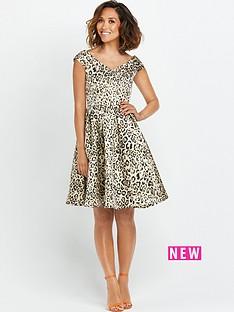 myleene-klass-myleene-animal-jacquard-bardot-prom-dress
