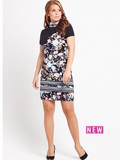 coleen-printed-embellished-high-neck-dress