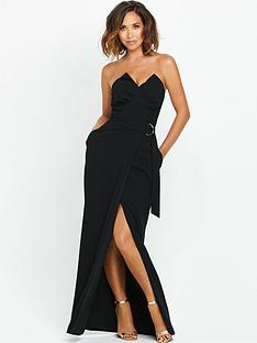 myleene-klass-pleat-bust-maxi-dress-with-d-ring