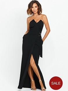 myleene-klass-pleat-bust-maxi-dress-with-d-ring