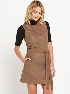 miss-selfridge-suedette-tunic-dress