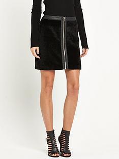 miss-selfridge-faux-pony-mini-skirt