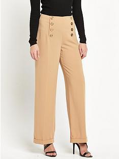 miss-selfridge-miss-selfridge-camel-high-waisted-wide-leg-trouser